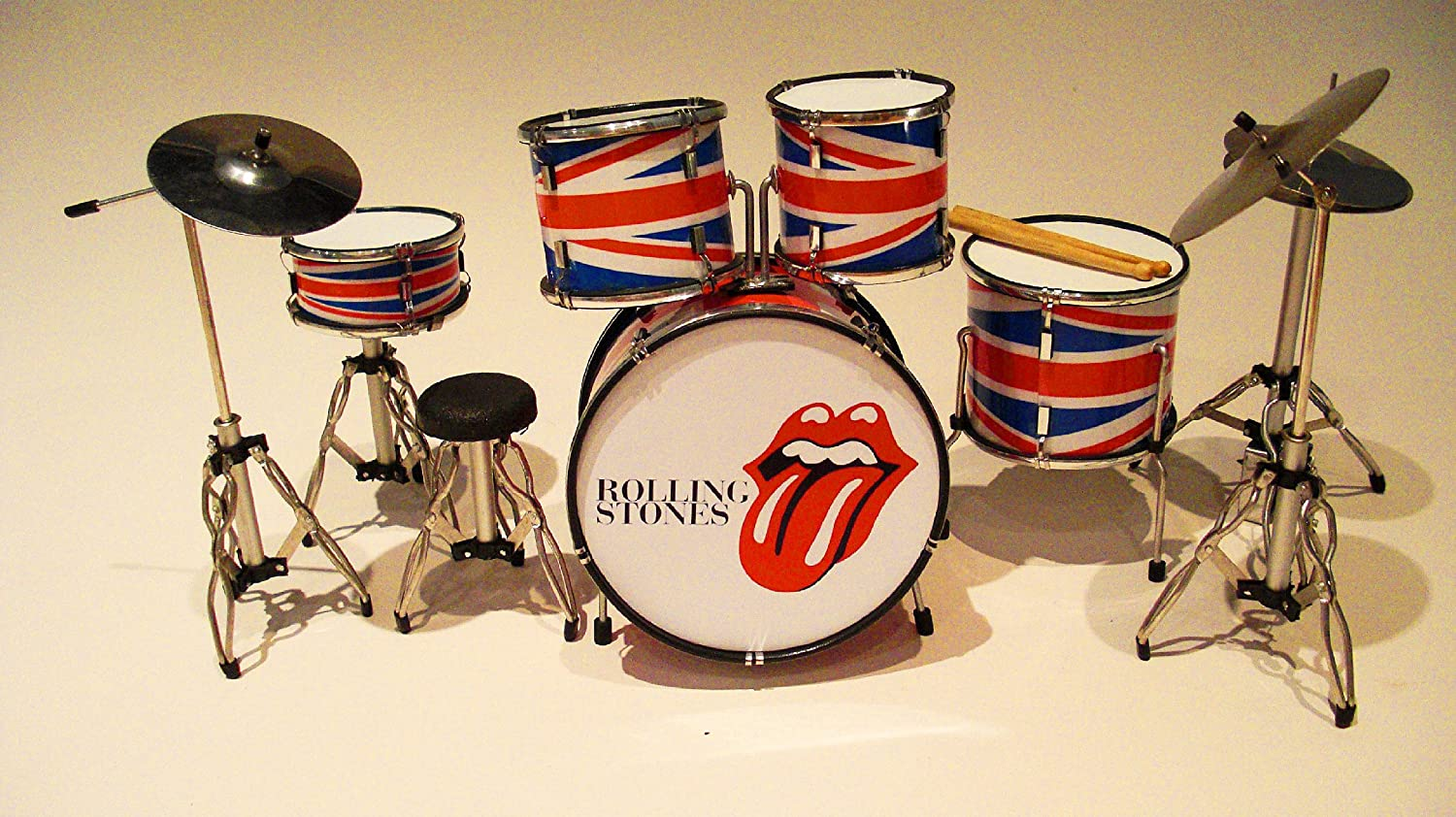 RGM334 Rolling Stones labbra miniature drum kit Rock Guitar Miniatures