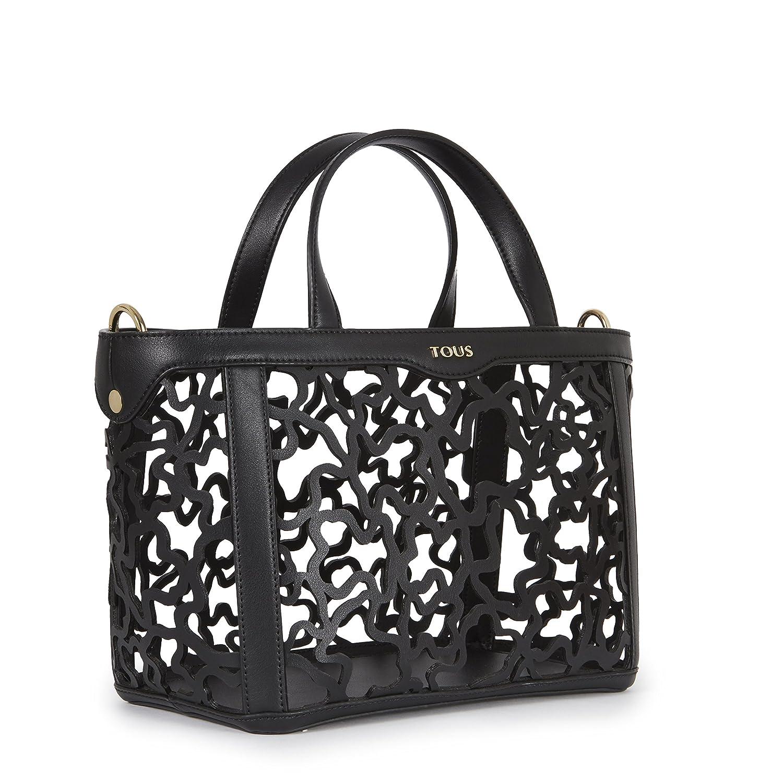 Capazo Pequeño Kaos Shock, Womens Shoulder Bag, Negro (Black), 14x21x28 cm (W x H L) Tous