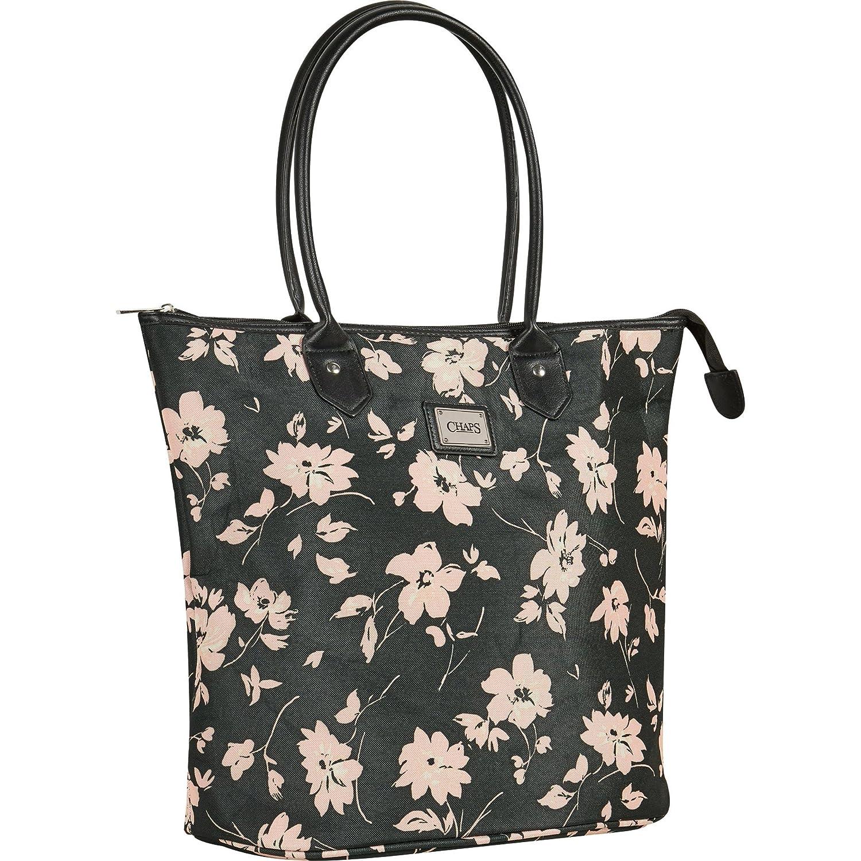 2019最新のスタイル Chaps トラベルトート Black/Pink B07FTRHJKG Floral Black/Pink Floral Black/Pink Floral Floral, 輸入雑貨アルファエスパス:19a538e7 --- diceanalytics.pk