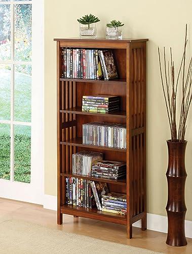 Furniture of America Valencia I Media Shelf, Brown