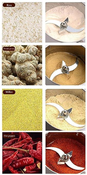 CGOLDENWALL Molino de Cereales Eléctrico 150g Molinollo de Hierba Oscilante de Acero Inoxidable Alta Velocidad Superfina para Hierba Café Maíz Especias ...