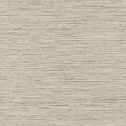 York Wallcoverings Nautical Living Horizontal Grass Cloth Removable Wallpaper Beige Taupe Cream Gold Vein