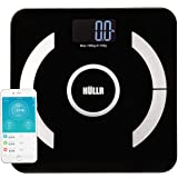 HULLR Smart Bluetooth APP Enabled Body Bathroom Weight Scale ,Tempered Glass with Step On Technology, 400 lb Capacity