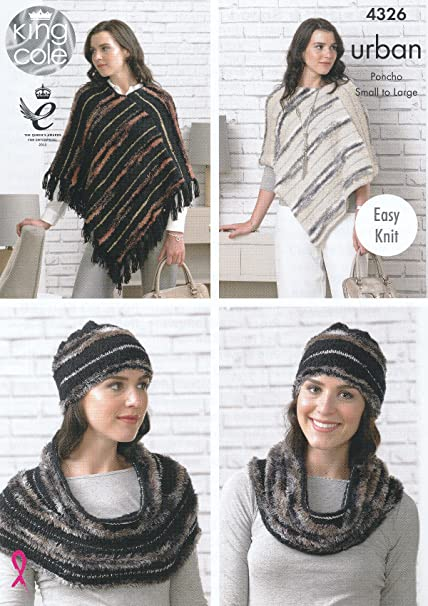 Amazon King Cole Urban Knitting Pattern Ladies Womens Easy