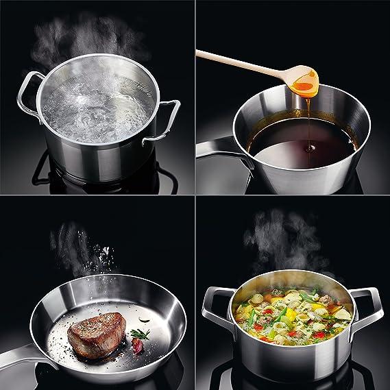 AEG HKA8540IND Placa de cocina eléctrica/Inducción / 76,60 cm/Función Power/Seguridad para Niños/Temporizador/Negra