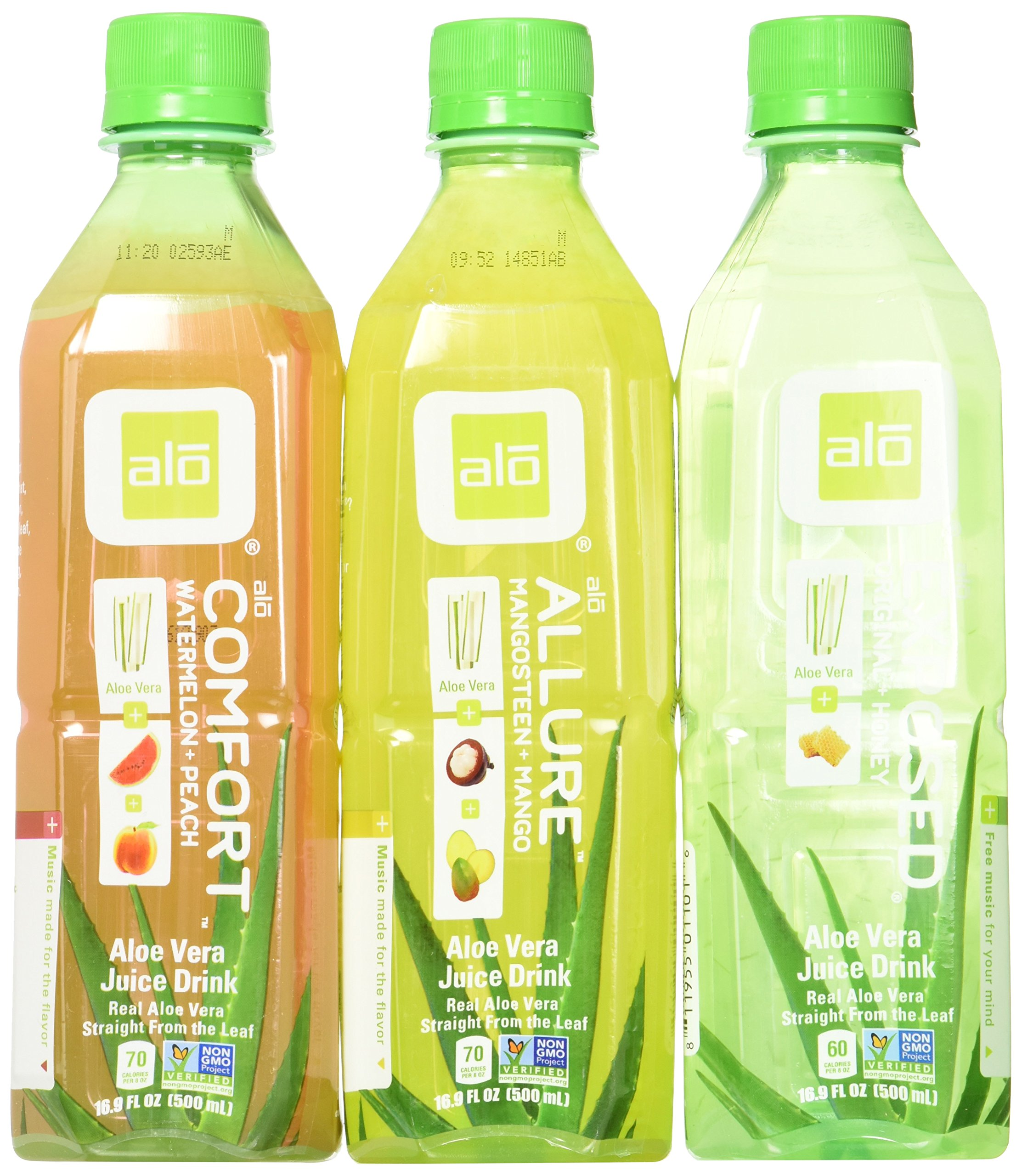 alo Aloe Vera Drink Variety 16.9 oz Bottle (Pack of 12) by ALO (Image #1)