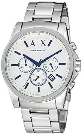 Armani Exchange Mens AX2510 Silver Quartz Watch