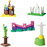 Imagimake Educational Toy 3D Worldwide Monuments Model Making Set for Boys and Girls (Multicolour)