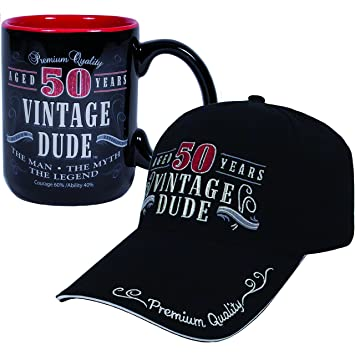 Amazon Vintage Dude 50 Hat And Coffee Mug Bundle Health