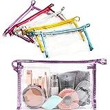 Bolsas de cosméticos impermeables y transparentes para maquillaje (9.5 x 6 pulgadas, 5 unidades)