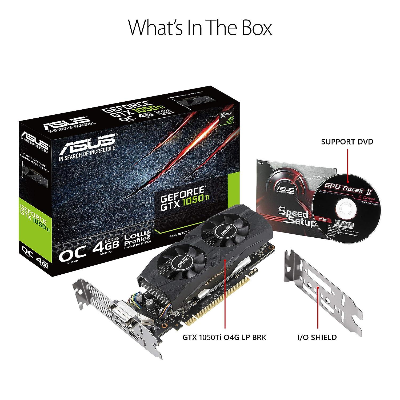GTX1050TI-O4G-LP-BRK GeForce GTX 1050 Ti 4 GB GDDR5: Amazon ...