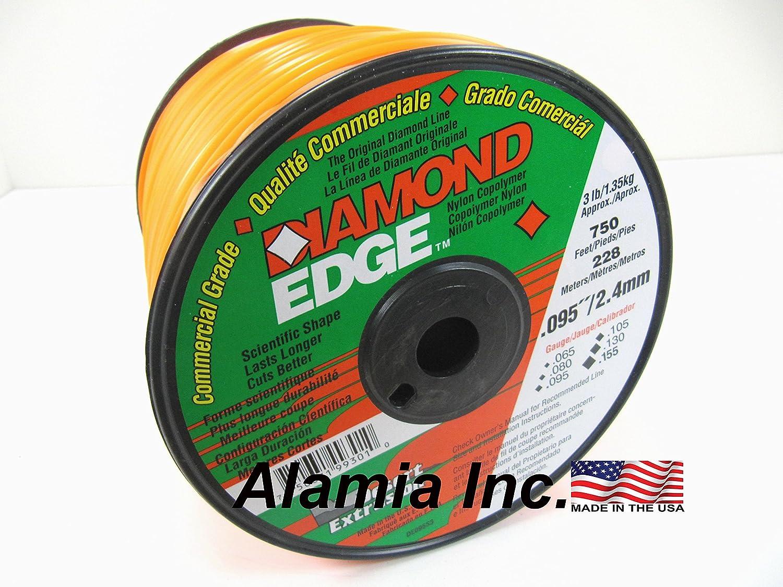Diamond Edge Original Commercial Trimmer Line .080 3-Lbs. Medium Spool 1065 Feet. MADE IN USA