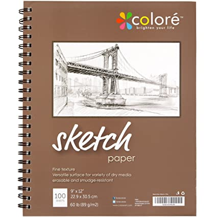 amazon com colore sketch pad durable sketching paper and