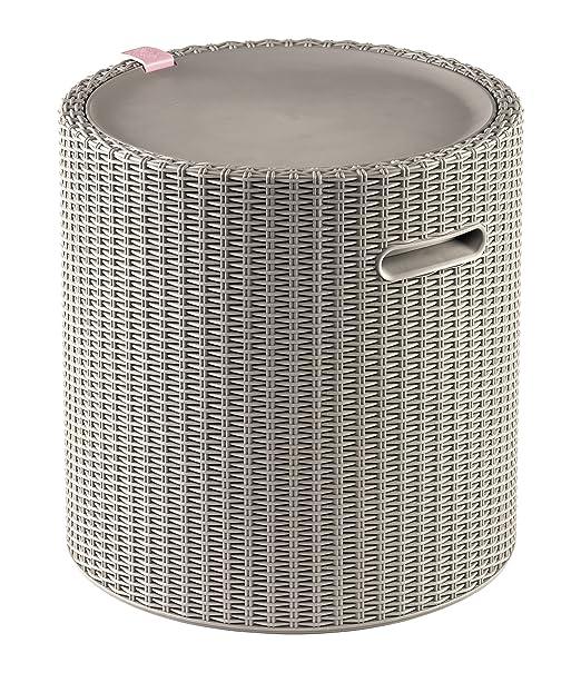 Keter Knit Cool Taburete al Aire Libre refrigerador de Hielo Barra ...