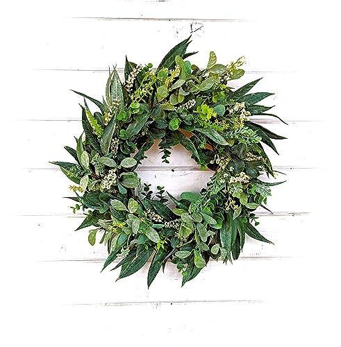 Farmhouse Wreath Rustic Wreath Easter Wreath Summer Wreath Burlap Wreath Front Door Wreath