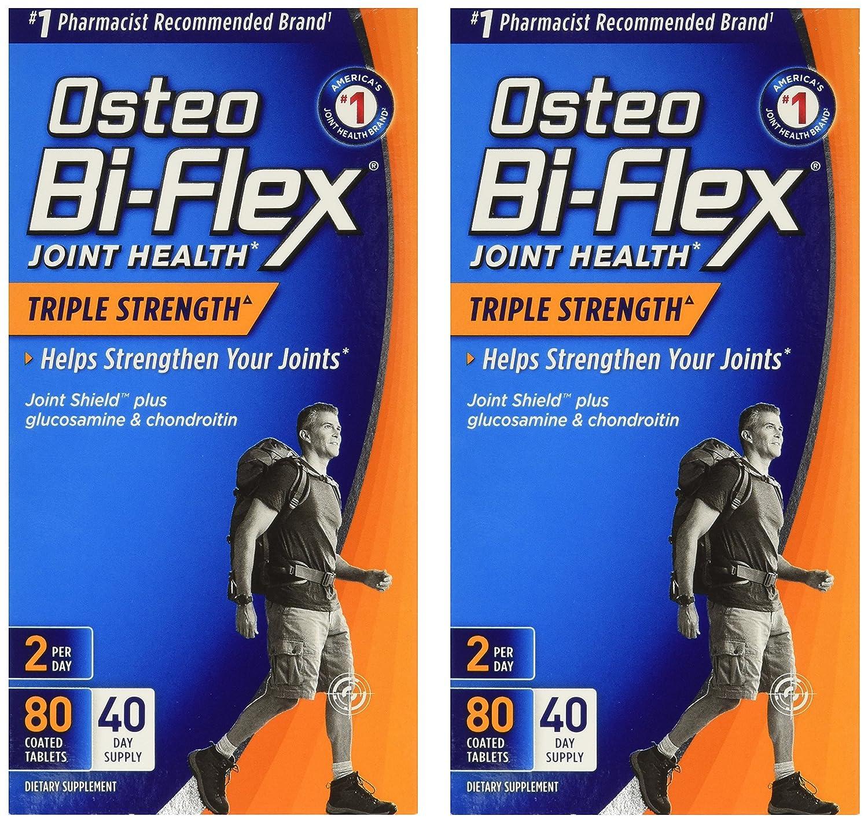 Osteo Bi-Flex Advanced Triple Strength, 80 Coated Caplets (Pack of 2)