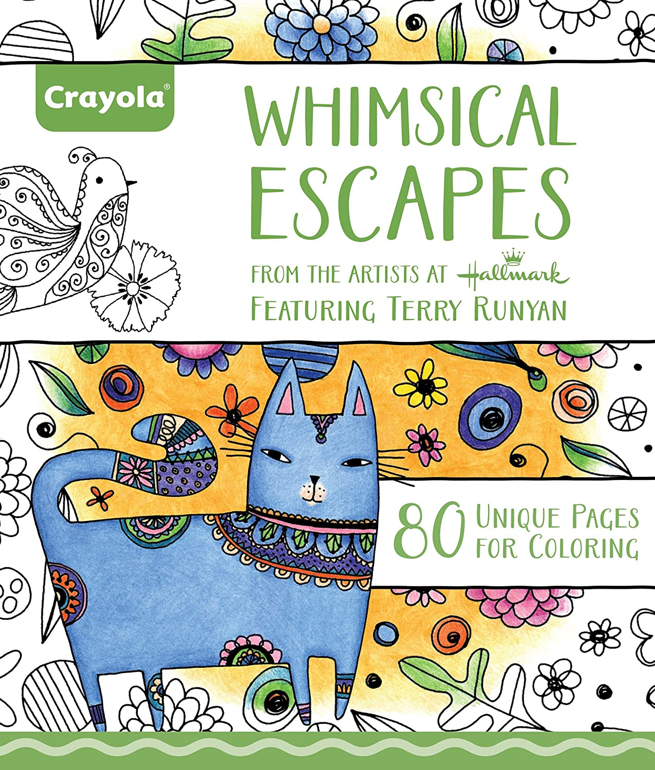 Amazon Crayola Whimsical Escapes Adult Coloring Book Gift 80 Pages Toys Games