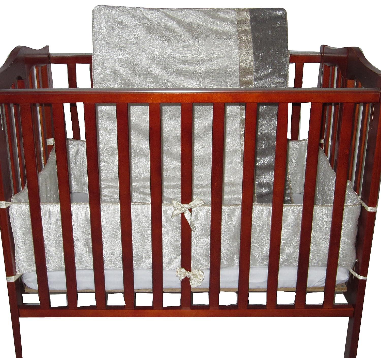 Baby Doll Bedding Crocodile Mini Crib/ Port-a-Crib Bedding Set, White by BabyDoll Bedding   B00GLS5UIW