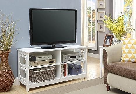 Amazon Com Convenience Concepts Omega Tv Stand White Furniture Decor
