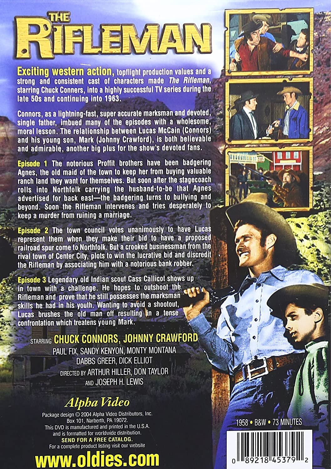amazon com the rifleman volume 1 chuck connors johnny crawford
