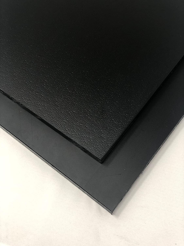 """High Density Polyethylene Plastic Sheet 3//8/"""" x 24/"""" x 24/"""" Black Textured HDPE"""