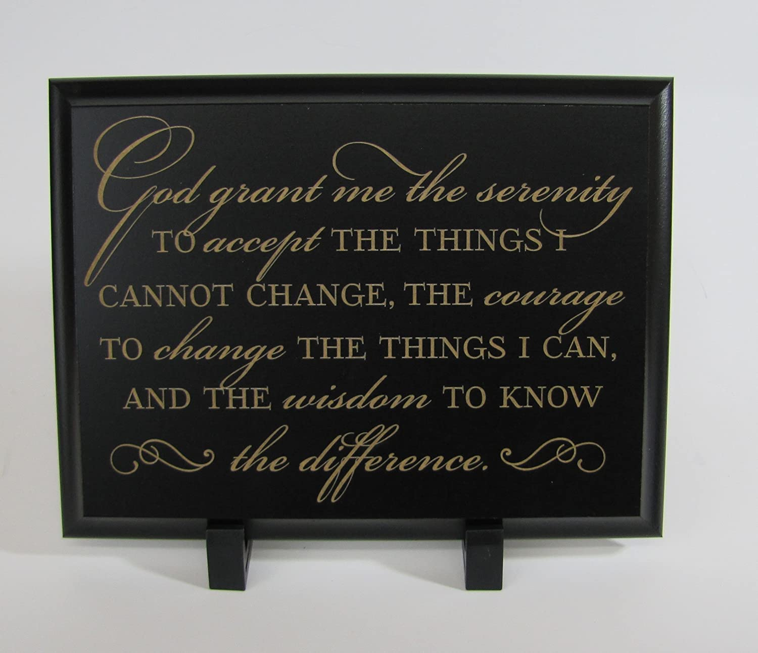 Amazon Com Serenity Prayer Wall Decor The Serenity Prayer God Grant Me The Serenity To Accept The Things I Cannot Change Courage To Change The Things I Can And The Wisdom To Know The