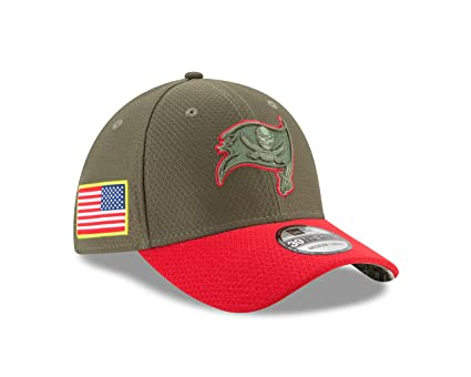 Tampa Bay Buccaneers New Era 2017 Salute To Service 39THIRTY Flex Hat –  Olive (S 93838c74241