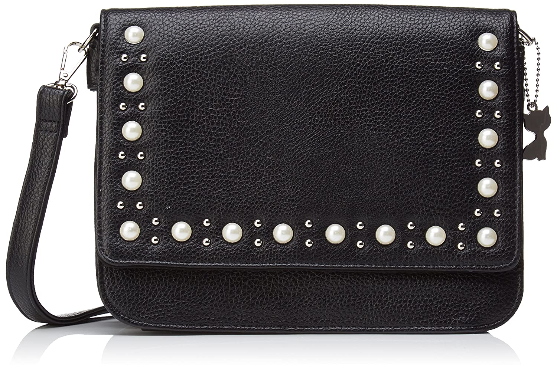 a14c931db4 Lollipops femme BEADS SHOULDER Sac porte epaule Noir (BLACK): Amazon.fr:  Chaussures et Sacs