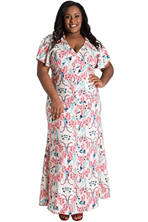 Poetic Justice Plus Size Curvy Women s Butterfly Sleeve Peacock Print Maxi  Dress Size 1X a6d9156418