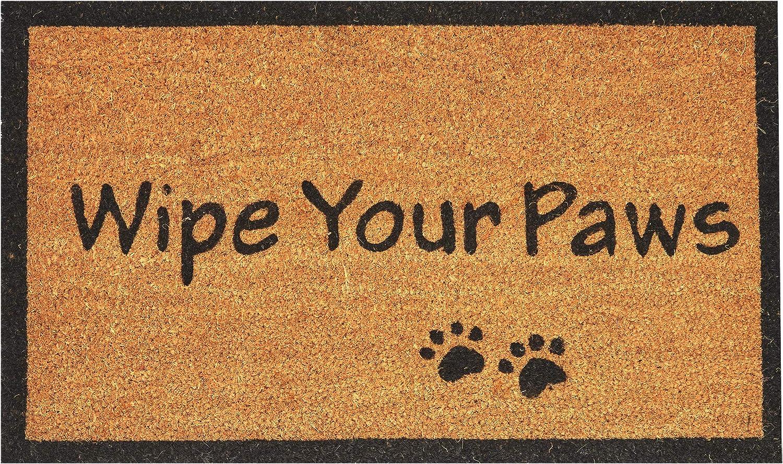 Amazon Com Envelor Wipe Your Paws Doormat Outdoor Welcome Coir Non Slip Backing Shoe Scraper 18 X 30 Inches Door Mat Garden Outdoor