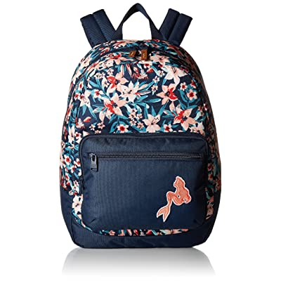 Roxy Kids The Little Mermaid Happy At Home Backpack Dress Blues Sebastian Floral One Size | Casual Daypacks
