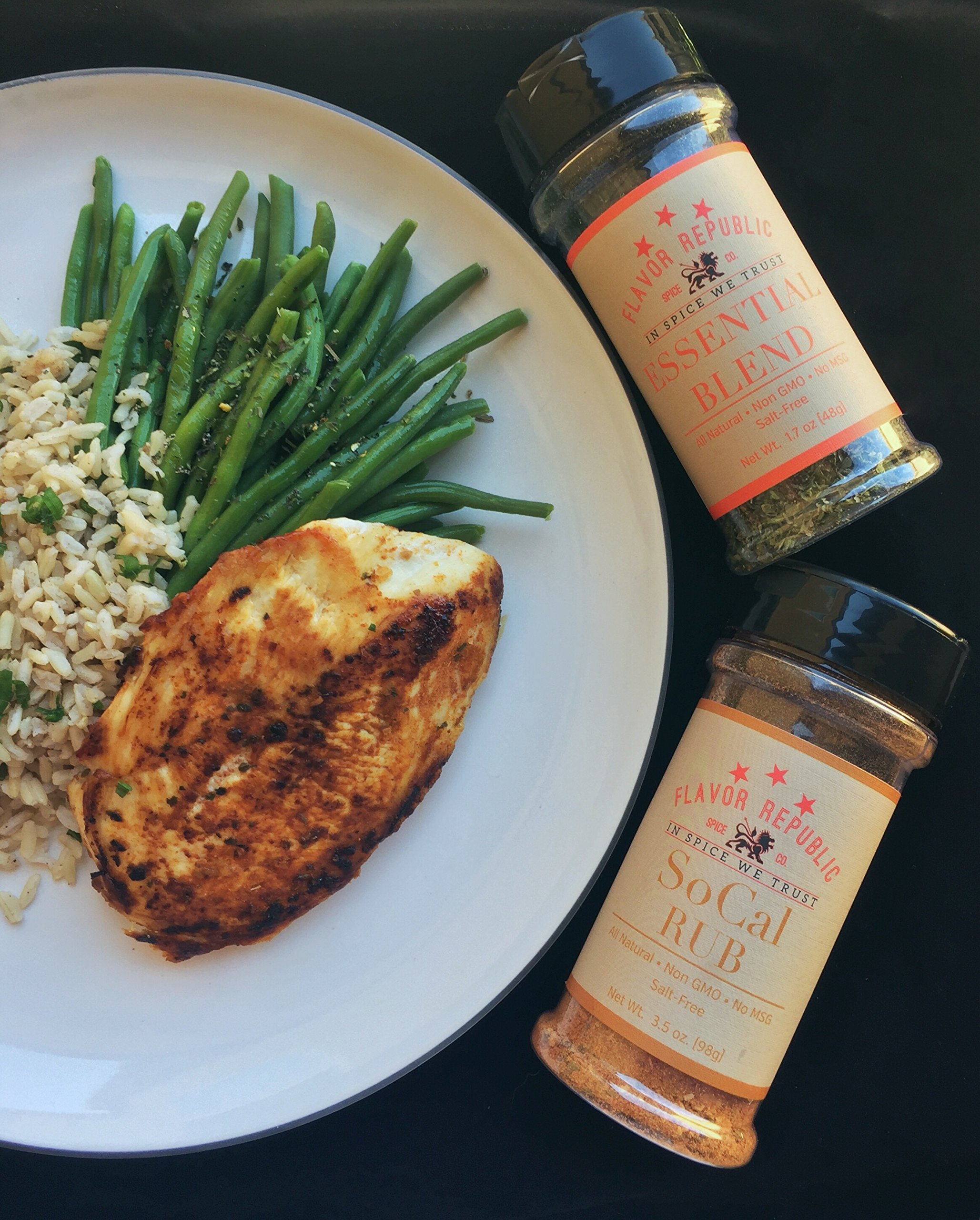 SoCal Rub (3.5 oz bottle) - salt free, all natural, non GMO, gluten free, seasoning blend for everything and is perfect for weight loss and a low sodium diet! by Flavor Republic (Image #6)