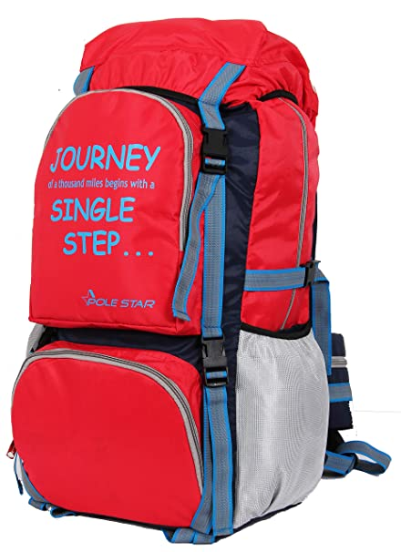 6b4a0d49f54 POLE STAR Rocky PRO 60 lt Red Rucksack with rain dust Cover I Hiking ...