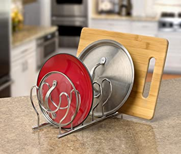 Details about  /Bloom Kitchen Lid Holder Organizer For Plates Cutting Boards Pots FREE SHIP