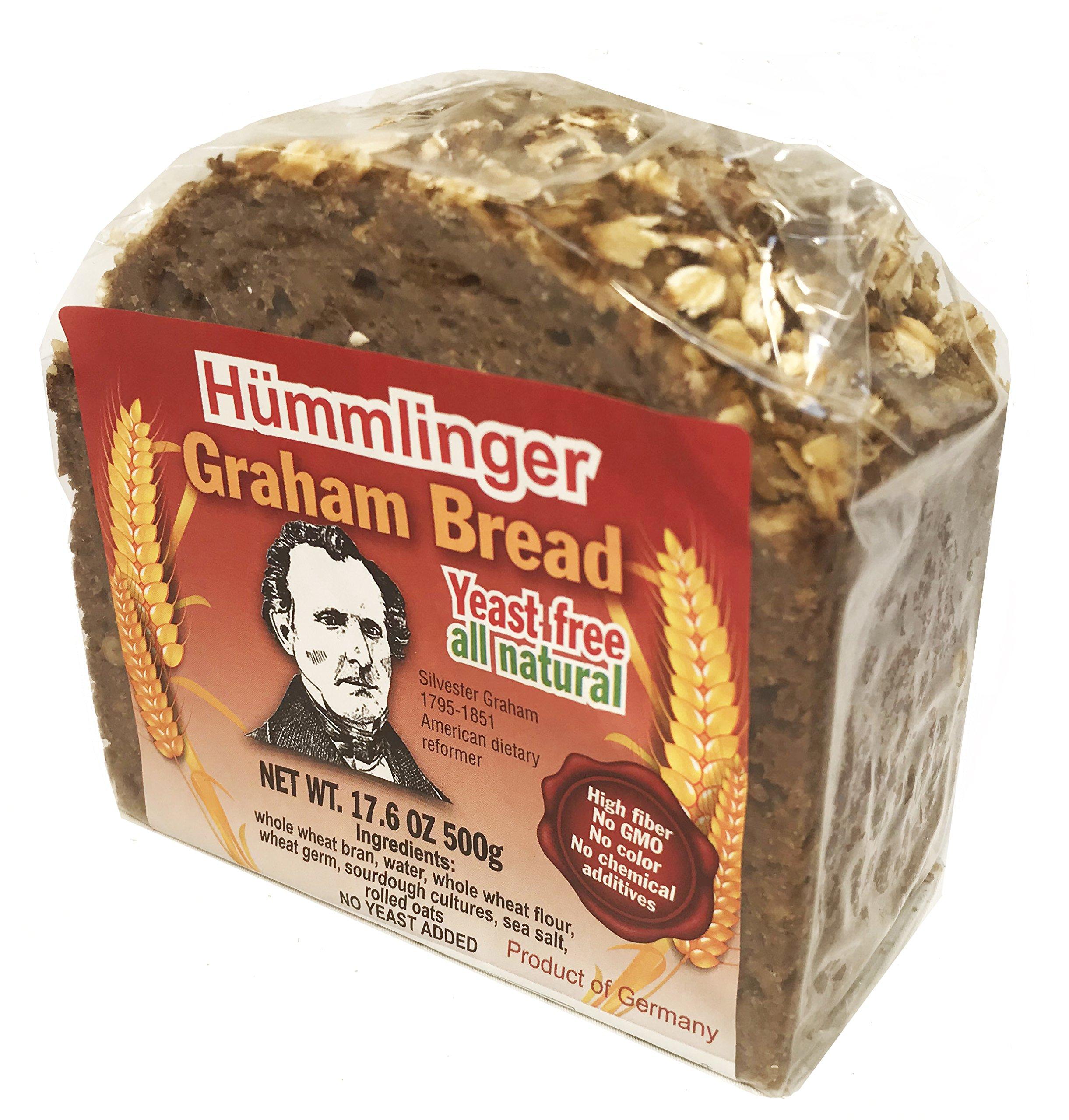 Hummlinger Yeast Free Graham Bread, GMO FREE 17.6oz (6 packs)
