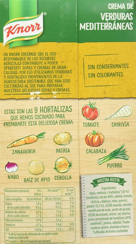 Knorr - Crema Verduras Mediterráneas, 1 L - [pack de 4]: Amazon.es: Alimentación y bebidas