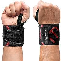 Muñequeras Deportivas Gym Profesionales - 2 Wrist Wraps Straps Resistentes para Levantar de Pesas, Talla Única Ajustable…
