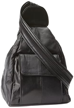 Amazon.com: Embassy Solid Genuine Lambskin Leather Hobo Sling ...