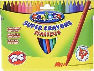 Carioca - Caja con 24 Ceras (A35000024): Amazon.es: Juguetes y juegos