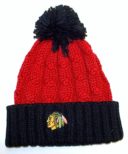 Image Unavailable. Image not available for. Color  Reebok Chicago Blackhawks  Women s Cuffed Knit Hat ... bb4a942d8