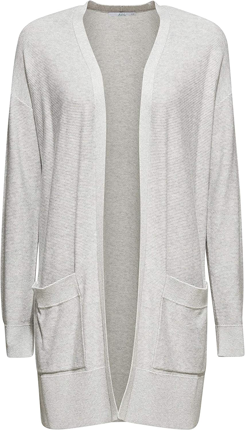 edc by ESPRIT Damen Strickjacke Grau (Light Grey 5 044)
