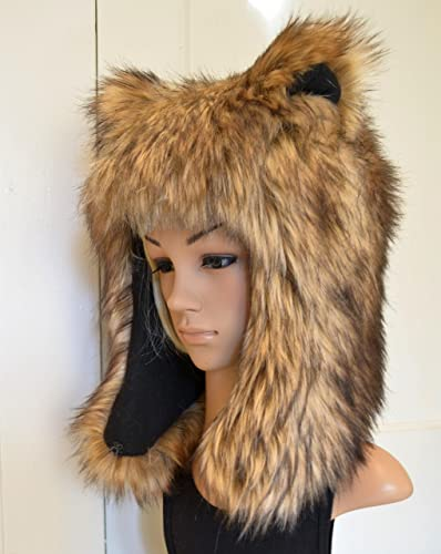 948983dc54ba8 Amazon.com  Brown Bear Hat Faux Fur Animal Hat Grizzly  Handmade