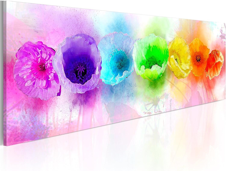 murando Cuadro en Lienzo Colorido 120x40 1 Parte Impresión en Material Tejido no Tejido Impresión Artística Imagen Gráfica Decoracion de Pared – Abstracto Flores 020110-78