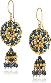 product image for Miguel Ases Gold-Filled Beaded Dangle Earrings