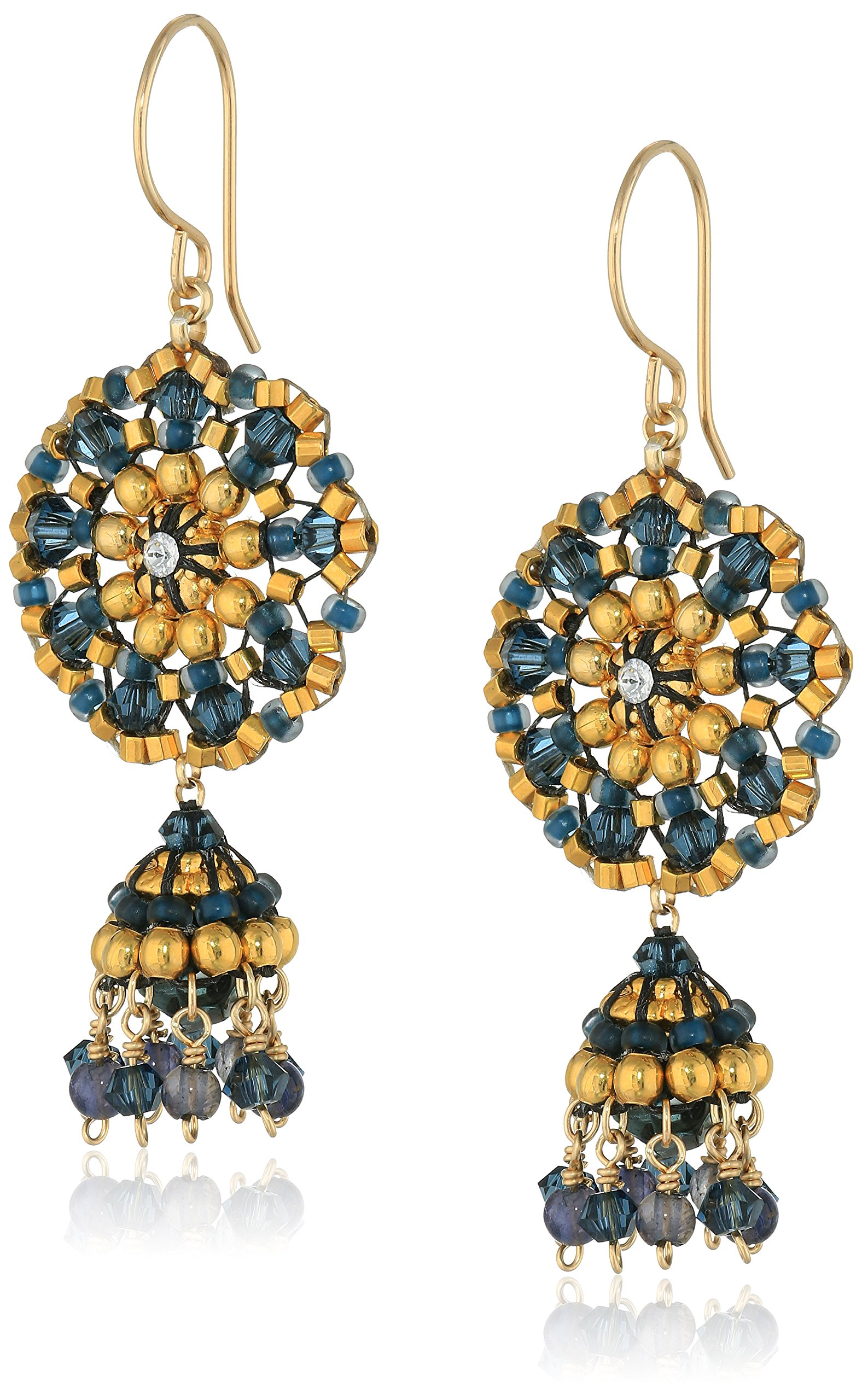 Miguel Ases Gold-Filled Beaded Dangle Earrings