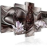 murando - Cuadro Buda 200x100 cm impresión de 5 Piezas - Material Tejido no Tejido - impresión artística - Imagen gráfica - Decoracion de Pared Cascada h-A-0075-b-p