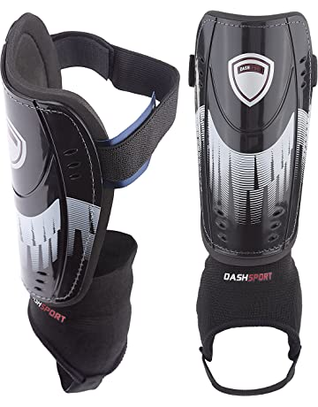 DashSport Soccer Shin Guards -Youth Sizes Best Kids Soccer Equipment with  Ankle Sleeves - Great 8d7ee5f7f731