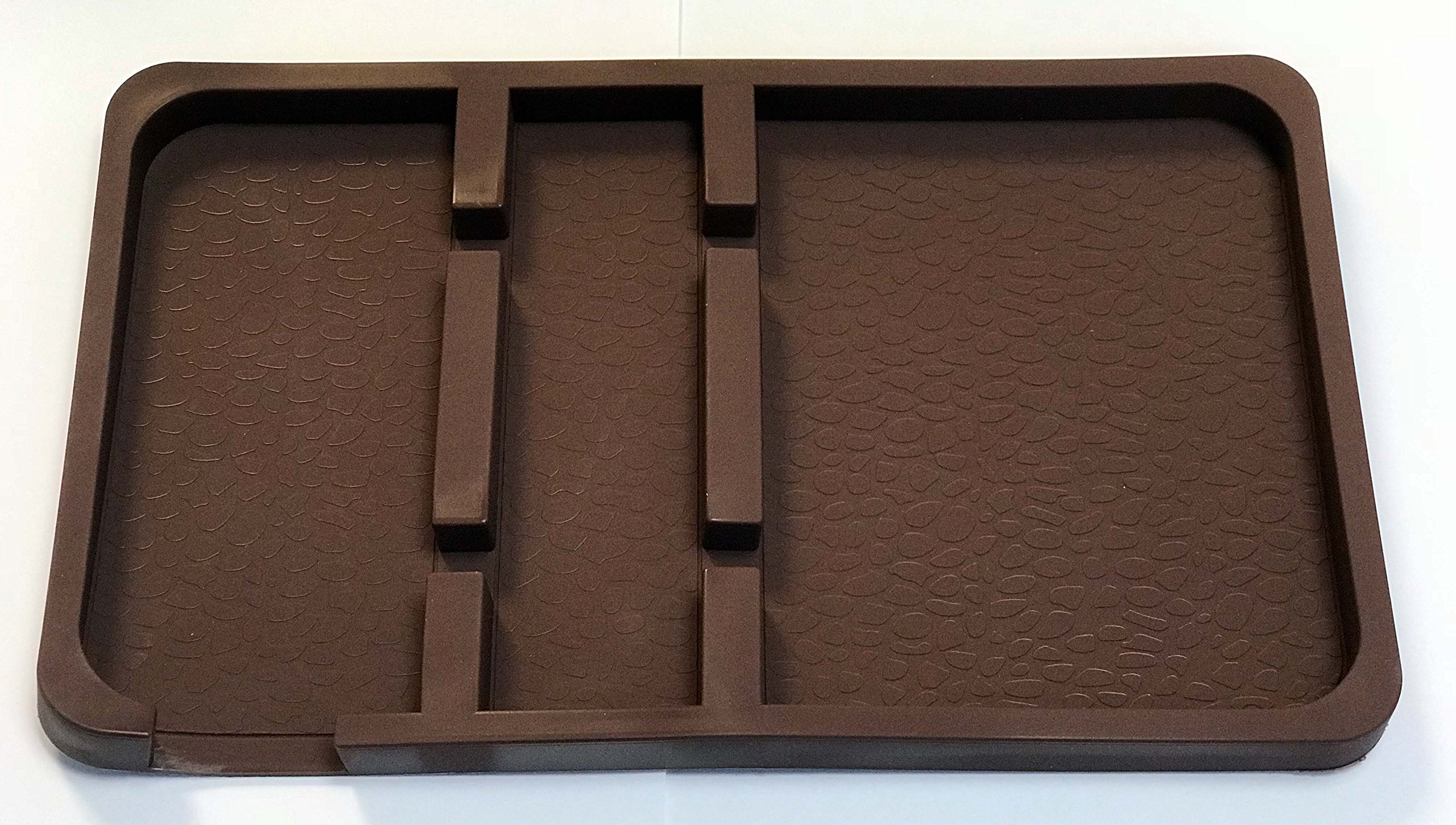 Super Bigger and Luxury leathery brown Non slip pad for car, Dashboard skid proof holder for navigation cell phone, key chains, sunglasses