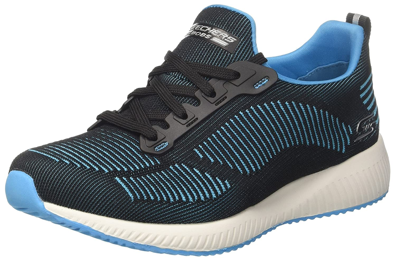 Skechers BOBS from Women's Bobs Squad-Twinning Fashion Sneaker B076BV8DS5 6 B(M) US|Black/Turquoise
