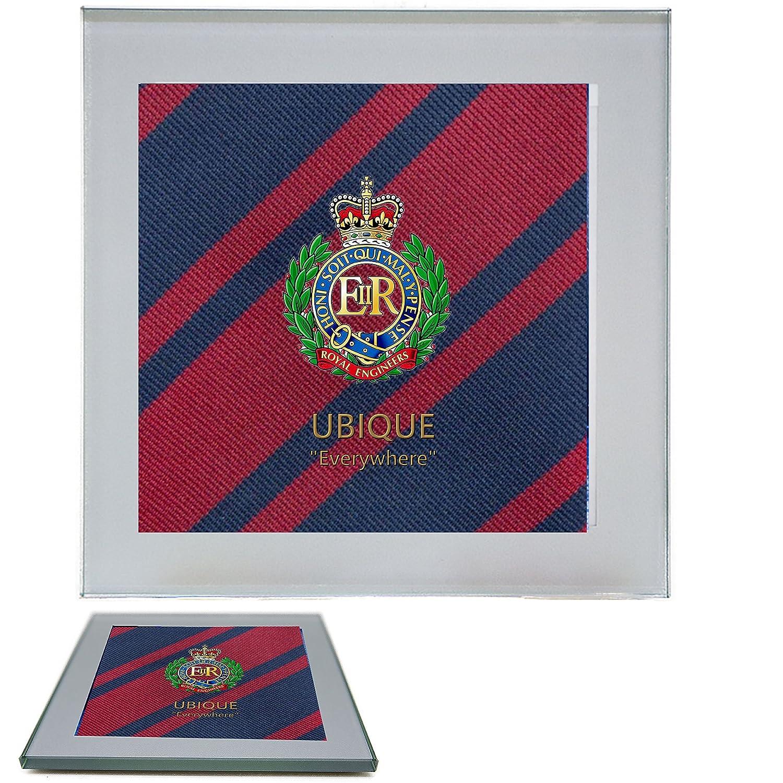 Royal ingenieros Premium bebidas taza posavasos con una imagen de ...